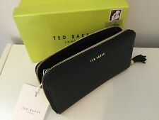 Ted Baker Sheea Tassel Leather Matinee Purse BLACK Brand New With Gift Box