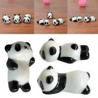 3 Pcs Mini Panda Chopstick Porcelain Holder Ceramic Rest Rack Stand Tray Mount