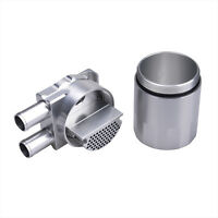 Billet Aluminium Engine Oil Catch Can Canister Bottle Tank Twin Port 19mm Silver