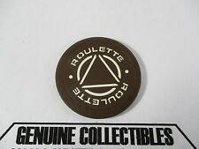 """""""Rare"""" Playboy Atlantic City Brown Roulette Casino Chips Very Nice!"""