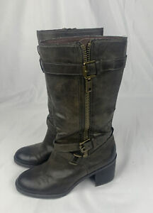 Franco Sarto Women's Faux Leather Mid Calf Boots Size US 7.5M