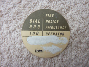 GPO P.O BT Used Original Telephone Dial Label 706 746 8746 phone Old Part