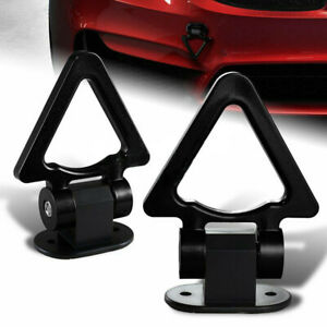 Black SUV Triangle Track Racing Style Tow Hook Look Decoration Car Accessories