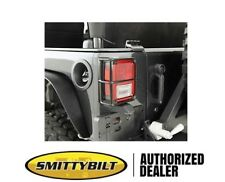 Smittybilt Euro Tail Light Guards 2007-2017 Jeep Wrangler JK 8665 Black
