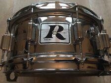 Vintage Rogers USA Big R 14x6.5 Dynasonic 1980 Chrome On Brass Snare Drum