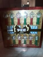 PEZ NIB 12 DAYS OF CHRISTMAS  DISPENSER SET SUGAR COOKIE FLAVORED LIMITED ED