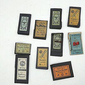 10 x gefüllte Heftchen antike Nadeln Nähnadel aus Sammlungsauflösung