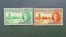 020]   NYASALAND  - VICTORY 1946 SG 158/9 - MINT V/ L/M