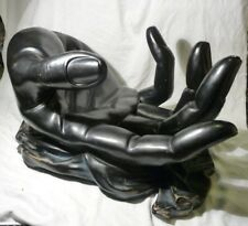 Art Moderne Sculpture Coffee Table Base Big Hand Black Gothic Bizarre Anatomical