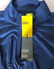 New Callaway L/S Golf Shirt Water Rep. 50 Spf 1/4 Zip Pocket Zip Coastal Blue Xl