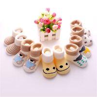5 Pairs Newborn Baby Girl Boy Anti-slip Socks Infant Toddler Slipper Shoes Boots