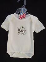 BNWT Baby Boys or Girls Sz 00 Super Soft 100% Organic Cotton Short Romper Suit