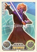 Star Wars Force Attax  Plo Koon #011