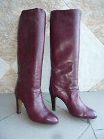 """Bottes Vintage  """"Bordeaux-Rouge""""   VIOLACCI Italie    ---   T.39"""