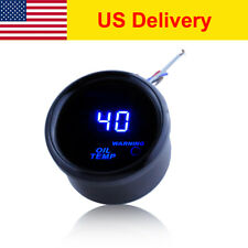 "BLACK 2"" 52MM DIGITAL LED OIL TEMP Gauge TEMPERATURE GAUGE METER"