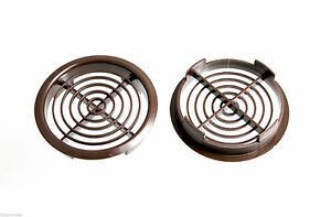 NEW PACK 100 PUSH IN DISC SOFFIT ROOF VENTS 70MM 2 3/4 INCH BROWN