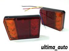 PAIR 12V LED REAR TAIL LIGHTS LAMP 4 FUNCTION TRAILER CARAVAN TRUCK LORRY 8 LED