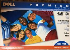 "Dell Premium Photo Paper 4""x6"" High Gloss 100 Sheets 9 mil 90 brightness openbox"