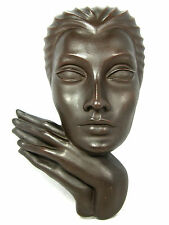 Anmutige 50´s design Wandmaske / wall mask  Achatit Werkstätten   33 cm
