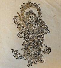 Bouddhisme Hindouisme estampage rehaussé XXe siècle Hinduism Buddhism