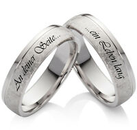 Eheringe Trauringe Verlobungsringe aus 925 Silber individueller Lasergravur LO43