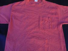 Columbia Mens Pullover Knit Short Sleeve Coral Cotton T Shirt Medium M