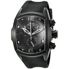 Invicta 6724 Men's Watch Black IP Lupah Revolution Rubber Strap Chronograph