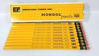 10 Vintage Eberhard Faber Mongol 482 # No 2 Pencils Original Box Unsharpened