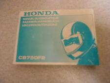 Conducteur manuel Honda CB 750 F II (rc42) modèle 1992-1993