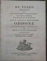 1810 CHIMICA MEDICINA 'DE FERRO' STUDIO DI P. ODDONE DA ZANCO DI VILLADEATI (AL)