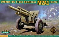 ACE 72530 - 1/72 – US 105mm Howitzer M2A1 w/M2 Gun Carriage plastic model kit UK