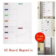 A3 Magnetic Memo Meal Planner Large Fridge Notice Board Whiteboard With 2 Pens