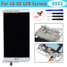 For LG G2 D802 Optimus LCD Display Touch Screen Digitizer Full Replacement Frame