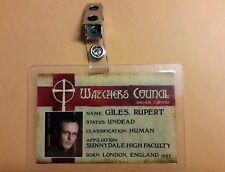 Buffy Vampire Slayer ID Badge-Watchers Council Rupert Giles prop costume cosplay