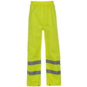 Mens Dunlop Safety Hi Vis Visibility Waterproof Trousers XL-XXXL