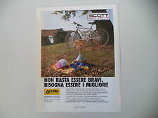 advertising Pubblicità 1989 BICICLETTA MOUNTAIN BIKE SCOTT