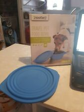 new and boxed zoofari travel pet food bowl includes lid