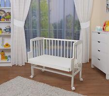 B-Ware,WALDIN Baby Beistellbett,Wiege,Babybett,große Liegefläch 90x55,Buche/weiß