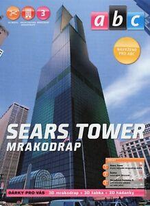 Skyscraper  Sears Tower Czech Paper Model 1 : 1750