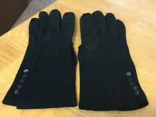 Vintage Black Ladies Gloves W/ Buttons
