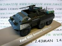 VOITURE 1/43 Militaire ATLAS : Ford M20 Armored Utility Car