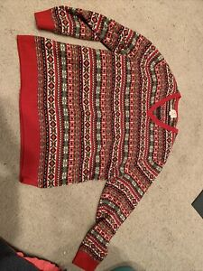 Brooks Brothers Red Fair Isle V Neck Sweater XXL