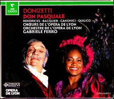 Donizetti DON PASQUALE Barbara Hendricks Bacquier Gino Quilico FERRO 2cd 1990