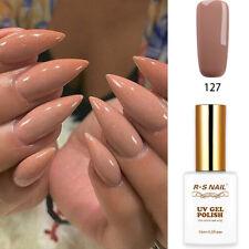RS Nail UV LED Gel Nail Polish Varnish Soak Off UV Gel Colour Nude 127 15ml New