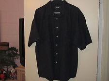 Men's Woods & Gray Dark Blue Striped Shirt (XXL)