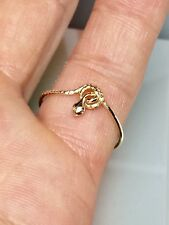 10k Solid Gold Baby Snake Ring, Midi Ring, Thin Ring, Dainty Gold Ring