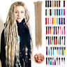 "20"" 24"" Ombre Dreadlocks Extensions Single Ended Synthetic Crochet Dreads Locks"