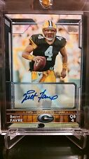 2015 Topps Brett Favre Green Bay Packers SP Variation Autograph Card