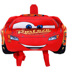 "Disney Cars Mcqueen Car Plush Doll Backpack 16"" Plush Toy Costume Bag Flat"