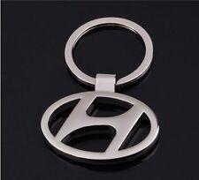 Hyundai Heavy Metal Alloy Chrome Key Chain Car EON Xcent Elantra Sonata Santa Fe